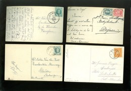 Beau Lot De 60 Cartes Postales Avec Beau Cachet + Timbre De Belgique Sur Des Cartes De Fantaisie ( Fantasie ) Zegel - Marcophilie