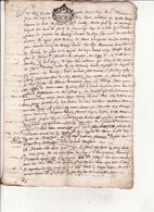 Gen Montauban Foix Bigorre 3 Huin 1683 Maitrise Royale Des Eaux Et Forets PV Bornage Estadens 8 Scans - Cachets Généralité