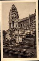Cp Kambodscha, Angkor Vat, PArtie Occidentale De La Cour Du Deuxieme Etage Et Tour Nord Ouest - China