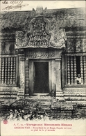 Cp Kambodscha, Angkor Wat, Porte Nord Du 2e Etage, Facade Sur Cour Au Pied De La 3e Terrasse - China