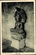 Cp Kambodscha, Angkor Vath, Bouddha A L'Interieur Des Galeries Du 2e Etage - China