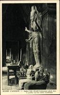 Cp Kambodscha, Angkor Vath, Divinite Brahmanique Placee Dans Le Pavillon Sud D. Entrees Occidentales - China