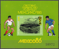 BULGARIA 1986, SPORT, SOCCER, FOOTBALL, WORLD CUP In MEXICO, MNH IMPERFORATED BLOCK, GOOD QUALITY *** - Unused Stamps