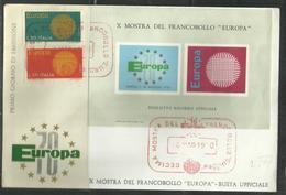 ITALIA REPUBBLICA ITALY REPUBLIC 1970 EUROPA CEPT SERIE COMPLETA SET FDC MOSTRA DEL FRANCOBOLLO A NAPOLI - F.D.C.