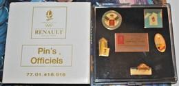 Rare Coffret Commémoratif Jeux Olympiques Albertville 92 Véhicule Renault - Olympic Games
