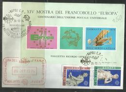 ITALIA REPUBBLICA ITALY REPUBLIC 1974 EUROPA CEPT SERIE COMPLETA SET FDC MOSTRA DEL FRANCOBOLLO A NAPOLI - 6. 1946-.. Republic