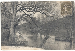 """St-AUBIN-DES-ORMEAUX . PAYSAGE SUR LA SEVRE + OBLIT CONVOYEUR De """" CHOLET A CLISSONS """" SUR RECTO DU 30/6/1926 - France"""