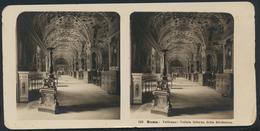 °°° Fotografia Diapositiva 1904 Roma Vaticano Veduta Interna Della Biblioteca  °°° - Stereoscopio