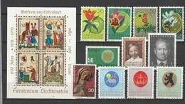 LIECHTENSTEIN  Xx  1970   ANNATA  COMPLETA      -  Postfrisch   -   Vedi  Foto ! - Liechtenstein