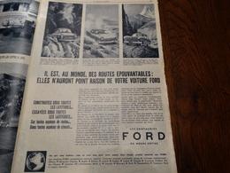 Publicité Des Voitures FORD Dans Le Patriote Illustré N° 37 Du 15 Septembre 1957. - Publicités