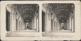 °°° Fotografia Diapositiva 1905 Roma Basilica S. Pietro Le Colonnate °°° - Diapositive