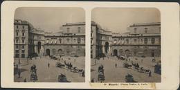 °°° Fotografia Diapositiva 1906 Napoli Piazza Teatro S. Carlo °°° - Diapositive