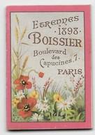 """Petit Calendrier Publicitaire """"BOISSIER Confiseur, 7 Bd. Des Capucines Paris"""" - Année 1898 - 4,5 X 3 Cm - TBE - Chocolat"""