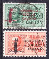 1944 RSI ESPRESSO EFFIGIE Serie Completa  USATO - 4. 1944-45 Repubblica Sociale