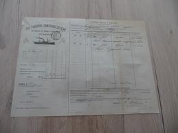Connaissement Ilustré Det Forenede Dampskibs Selskab Copenhague Bordeaux Vers Riga  1908 Câpres Verdet - Transports