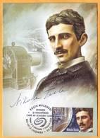 2018 Moldova Moldavie Moldau  Nikola Tesla - Inventor Of Electrical Engineering, Radio Engineer, Physicist.maxicard - Moldova