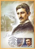 2018 Moldova Moldavie Moldau  Nikola Tesla - Inventor Of Electrical Engineering, Radio Engineer, Physicist.maxicard - Factories & Industries