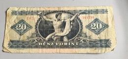Billet HONGRIE :  20 Forint 1975 (C 021) Froissé - Ungheria