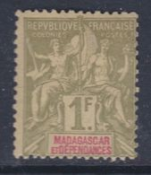 Madagascar N° 40 X Type Groupe : 1 F. Olive Et Rouge, Trace De Charnière Sinon   TB - Madagascar (1889-1960)