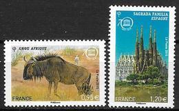 France 2015 Service N° 164/165 Neufs UNESCO à La Faciale - Officials