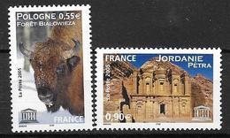 France 2005 Service N° 132/133 Neufs UNESCO à La Faciale - Officials