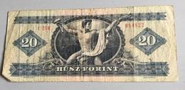 Billet HONGRIE :  20 Forint 1975 (C 250) Froissé - Hongrie