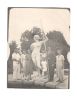 04942 Soviet Russia Girl With An Oar Socialist Realism Sculpture 1930s - Places