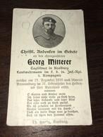 Sterbebild Wk1 Ww1 Bidprentje Avis Décès Deathcard IR26 Dezember 1916 Aus Kraiburg - 1914-18