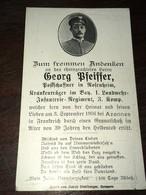 Sterbebild Wk1 Ww1 Bidprentje Avis Décès Deathcard LIR1 AZANNES 3. September 1916 Aus Rosenheim - 1914-18