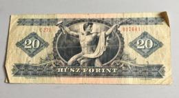 Billet HONGRIE :  20 Forint 1975 (C 271) Froissé - Hongrie