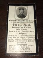 Sterbebild Wk1 Ww1 Bidprentje Avis Décès Deathcard 5. Armierungs Bataillon CAMBRAI Block 5 Grab 310 Aus Winklham - 1914-18