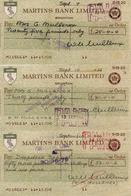 MARTIN'S BANK LIMITED 1966 BRIGHTON CHEQUE CHECK - Chèques & Chèques De Voyage