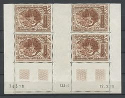TAAF  1970 PA N° 22 ** Bloc De 4 Coin Daté Neufs MNH Superbe C 136,50 € Station Météorologique île Amsterdam - Poste Aérienne