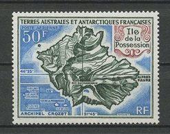 TAAF 1971 PA N°  23 ** Neuf MNH Superbe C 31 € Ile De La Possession Carte - Airmail