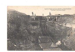 Ruffec.Verteuil.Ligne Du Chemin De Fer De Ruffec A Roumazieres.Tranchée Route D'Aunac. - Ruffec