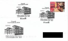 SPAIN. POSTMARK 100th ANNIV. INSTITUTE PADRE SUAREZ. GRANADA 2018 - Marcofilia - EMA ( Maquina De Huellas A Franquear)
