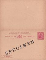 Entier Postal -  Monserrat - One Penny Red / Rouge - DOUBLE - Reply (réponse Payée ) - SPECIMEN!!! - Montserrat
