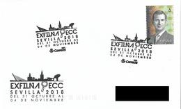 SPAIN. POSTMARK NATIONAL PHILATELIC EXHIBITION, EXFILNA. SEVILLA 2018 - Marcofilia - EMA ( Maquina De Huellas A Franquear)