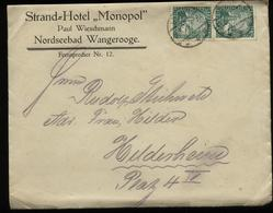 S5460 - DR Firmen Brief Hotel Monopol Wangerooge: Gebraucht Wangerooge - Hildesheim 1925 , Bedarfserhaltung. - Lettres & Documents