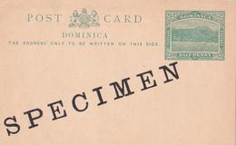 Entier Postal -  Dominica - Half  Penny Green / Vert  - SPECIMEN!!! - Dominique (1978-...)