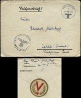 P0217 - DR Feldpost Briefumschlag Mit V - Hakenkreuz Vignette: Gebraucht FP. Nr. 20943 Gebirgsjäger Reg. 139 - Sehlde - Deutschland