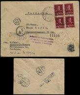 P0210 - DR Rumänien Waffen SS Feldpost R - Briefumschlag Mit Zensuren , AS , 1944: Gebraucht Kronstadt Brasov - SS Obe - Deutschland