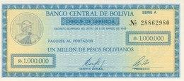 1.000.000 PESOS BOLIVIENS 1985 NEUF - Bolivie