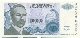 1.000.000 DINARS 1993 REPUBLIQUE SERBE DE BOSNIE - BILLET NEUF - Bosnia And Herzegovina