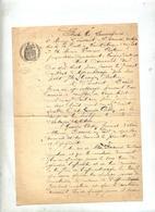 Contrat Apprentissage Horloger - Historische Dokumente