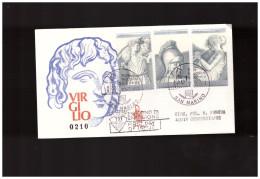 SAN MARINO - 10 7 1981  ED VENETIA FDC BIMILLENARIO MORTE VIRGILIO  - VIAGGIATA - FDC