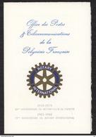 Polynésie  -  1979  :  Yv  145-46  **  Document Officiel De Rotary- Club - Polynésie Française