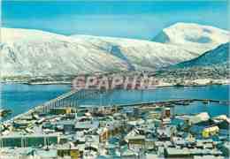 CPM Norway View Of The Town Towards Mount Tromsdalstind - Norwegen