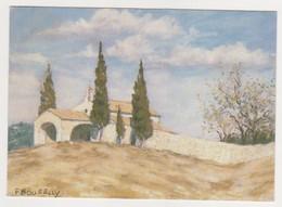 26555 Chapelle à Eygalières. - Les Pastels De BOURELLY - IPA  Presses Soleil -dessin Cyprès - Eyguieres