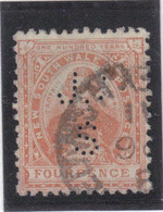 M16 - NSW 1888-89 - COOK Oblitéré - Perforé J S - Non Répertorié -( Perfored J S - Not Listed- ) - 1850-1906 New South Wales